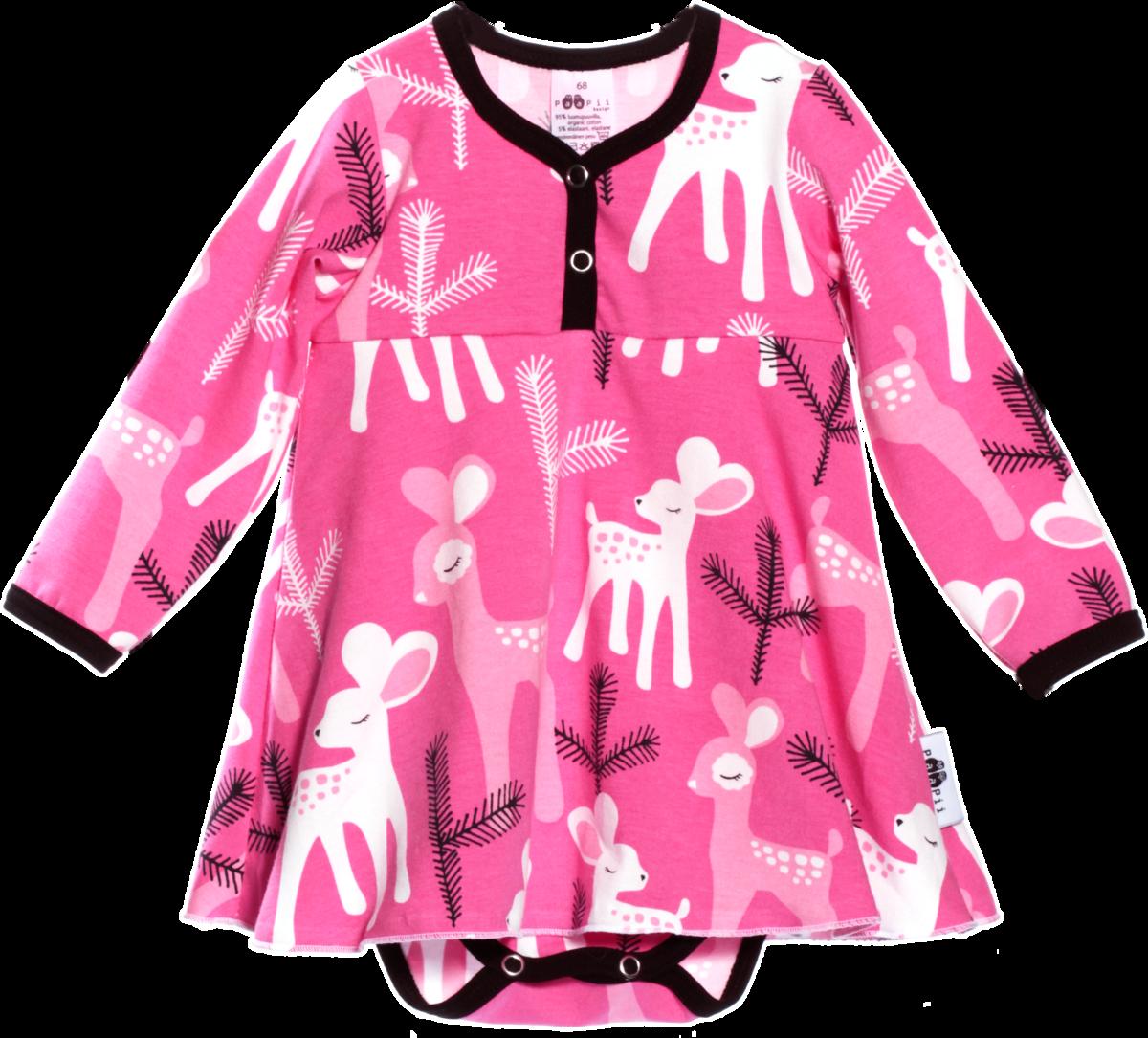 PaaPii vauvan mekkobody Bambi pinkkinä - Bodyt ja paidat - 12945 - 1 a8c771b001