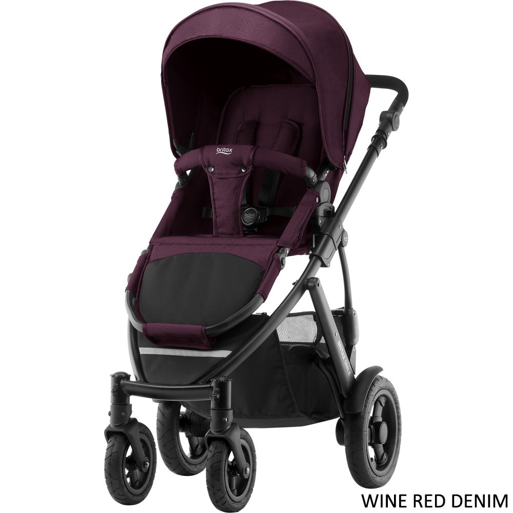 Britax Smile II rattaat värinä Wine Red Denim - Matkarattaat ja lastenrattaat - 2000023579 - 11